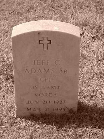 ADAMS, SR (VETERAN KOR), JEFF C - Pulaski County, Arkansas | JEFF C ADAMS, SR (VETERAN KOR) - Arkansas Gravestone Photos