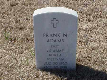 ADAMS (VETERAN 2 WARS), FRANK N - Pulaski County, Arkansas | FRANK N ADAMS (VETERAN 2 WARS) - Arkansas Gravestone Photos