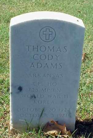 ADAMS (VETERAN 2 WARS), THOMAS CODY - Pulaski County, Arkansas | THOMAS CODY ADAMS (VETERAN 2 WARS) - Arkansas Gravestone Photos