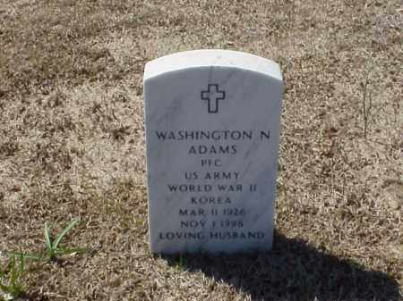 ADAMS (VETERAN 2WARS), WASHINGTON N - Pulaski County, Arkansas | WASHINGTON N ADAMS (VETERAN 2WARS) - Arkansas Gravestone Photos