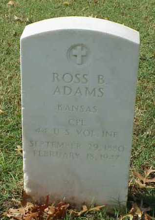 ADAMS (VETERAN SAW), ROSS B - Pulaski County, Arkansas | ROSS B ADAMS (VETERAN SAW) - Arkansas Gravestone Photos