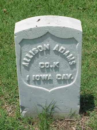 ADAMS (VETERAN UNION), ALLISON - Pulaski County, Arkansas | ALLISON ADAMS (VETERAN UNION) - Arkansas Gravestone Photos