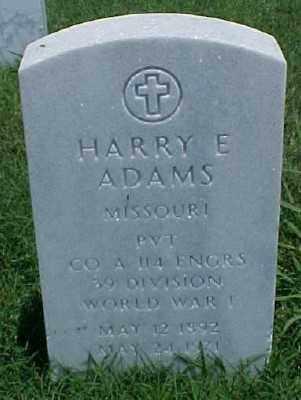 ADAMS (VETERAN WWI), HARRY E - Pulaski County, Arkansas | HARRY E ADAMS (VETERAN WWI) - Arkansas Gravestone Photos