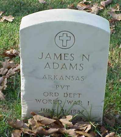 ADAMS (VETERAN WWI), JAMES N - Pulaski County, Arkansas | JAMES N ADAMS (VETERAN WWI) - Arkansas Gravestone Photos