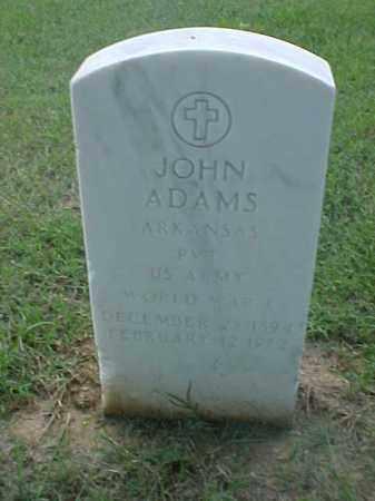 ADAMS (VETERAN WWI), JOHN - Pulaski County, Arkansas | JOHN ADAMS (VETERAN WWI) - Arkansas Gravestone Photos