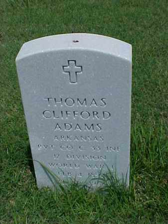 ADAMS (VETERAN WWI), THOMAS CLIFFORD - Pulaski County, Arkansas | THOMAS CLIFFORD ADAMS (VETERAN WWI) - Arkansas Gravestone Photos