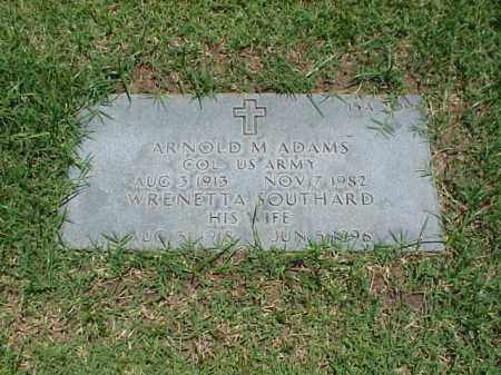 ADAMS (VETERAN WWII), ARNOLD M - Pulaski County, Arkansas | ARNOLD M ADAMS (VETERAN WWII) - Arkansas Gravestone Photos