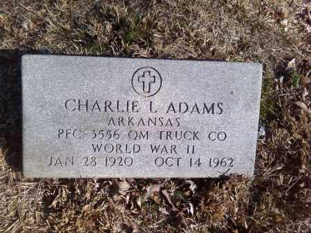 ADAMS (VETERAN WWII), CHARLIE L - Pulaski County, Arkansas | CHARLIE L ADAMS (VETERAN WWII) - Arkansas Gravestone Photos