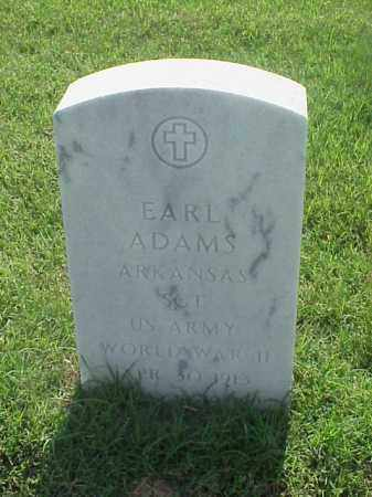 ADAMS (VETERAN WWII), EARL - Pulaski County, Arkansas | EARL ADAMS (VETERAN WWII) - Arkansas Gravestone Photos