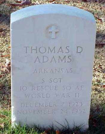 ADAMS (VETERAN WWII), THOMAS D - Pulaski County, Arkansas | THOMAS D ADAMS (VETERAN WWII) - Arkansas Gravestone Photos