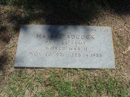 ADCOCK (VETERAN WWII), HASKEL - Pulaski County, Arkansas | HASKEL ADCOCK (VETERAN WWII) - Arkansas Gravestone Photos