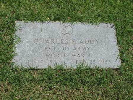 ADDY (VETERAN WWI), CHARLES F - Pulaski County, Arkansas | CHARLES F ADDY (VETERAN WWI) - Arkansas Gravestone Photos