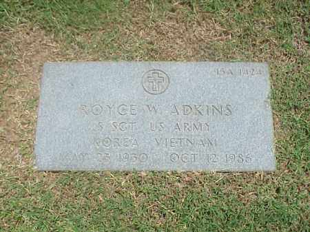 ADKINS (VETERAN 2 WARS), ROYCE W - Pulaski County, Arkansas | ROYCE W ADKINS (VETERAN 2 WARS) - Arkansas Gravestone Photos