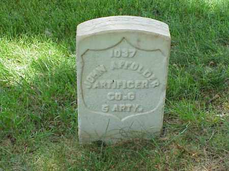 AFFOLDER (VETERAN UNION), JOHN - Pulaski County, Arkansas | JOHN AFFOLDER (VETERAN UNION) - Arkansas Gravestone Photos