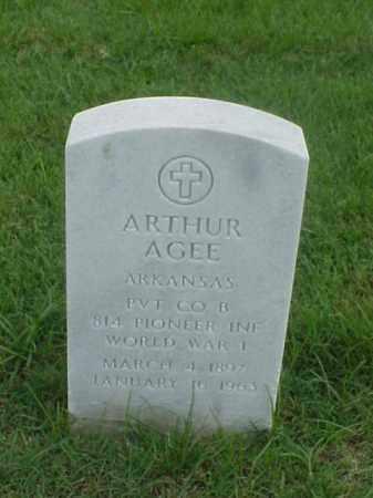 AGEE (VETERAN WWI), ARTHUR - Pulaski County, Arkansas | ARTHUR AGEE (VETERAN WWI) - Arkansas Gravestone Photos