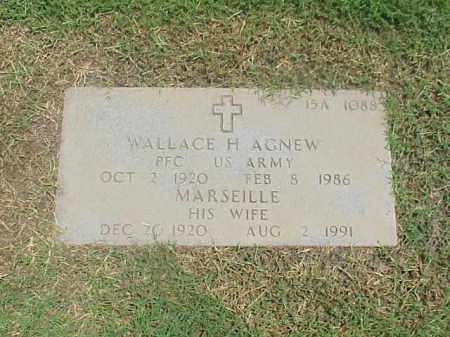 AGNEW (VETERAN), WALLACE H - Pulaski County, Arkansas | WALLACE H AGNEW (VETERAN) - Arkansas Gravestone Photos