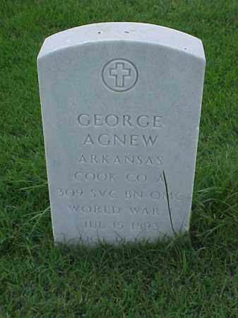 AGNEW (VETERAN WWI), GEORGE - Pulaski County, Arkansas | GEORGE AGNEW (VETERAN WWI) - Arkansas Gravestone Photos