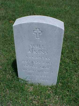 AIKINS (VETERAN WWI), WILL - Pulaski County, Arkansas | WILL AIKINS (VETERAN WWI) - Arkansas Gravestone Photos