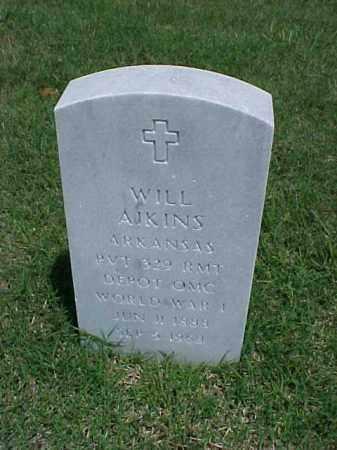 AIKINS (VETERAN WWI), WILL - Pulaski County, Arkansas | WILL AIKINS (VETERAN WWI) - Arkansas Gravestone Photos