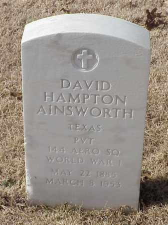 AINSWORTH (VETERAN WWI), DAVID HAMPTON - Pulaski County, Arkansas | DAVID HAMPTON AINSWORTH (VETERAN WWI) - Arkansas Gravestone Photos