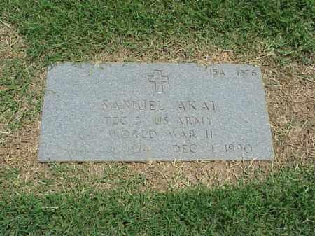 AKAI (VETERAN WWII), SAMUEL - Pulaski County, Arkansas | SAMUEL AKAI (VETERAN WWII) - Arkansas Gravestone Photos