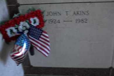 "AKINS, SR.  (VETERAN 2WARS), JOHN THOMAS ""JACK"" - Pulaski County, Arkansas 