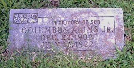 AKINS, JR., COLUMBUS - Pulaski County, Arkansas | COLUMBUS AKINS, JR. - Arkansas Gravestone Photos
