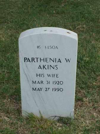 AKINS, PARTHENIA W - Pulaski County, Arkansas | PARTHENIA W AKINS - Arkansas Gravestone Photos