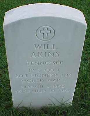 AKINS (VETERAN WWI), WILL - Pulaski County, Arkansas | WILL AKINS (VETERAN WWI) - Arkansas Gravestone Photos