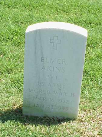 AKINS (VETERAN WWII), ELMER - Pulaski County, Arkansas | ELMER AKINS (VETERAN WWII) - Arkansas Gravestone Photos