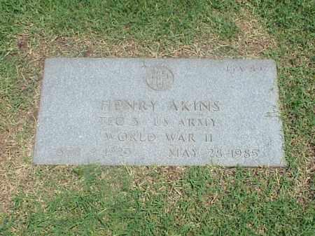 AKINS (VETERAN WWII), HENRY - Pulaski County, Arkansas | HENRY AKINS (VETERAN WWII) - Arkansas Gravestone Photos
