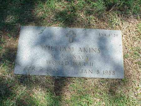AKINS (VETERAN WWII), WILLIAM - Pulaski County, Arkansas | WILLIAM AKINS (VETERAN WWII) - Arkansas Gravestone Photos