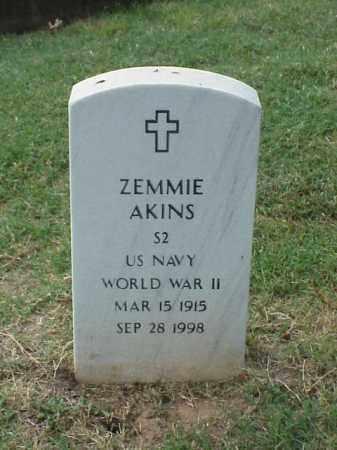 AKINS (VETERAN WWII), ZEMMIE - Pulaski County, Arkansas | ZEMMIE AKINS (VETERAN WWII) - Arkansas Gravestone Photos