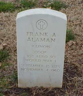 ALAMAN  (VETERAN WWI), FRANK A - Pulaski County, Arkansas | FRANK A ALAMAN  (VETERAN WWI) - Arkansas Gravestone Photos