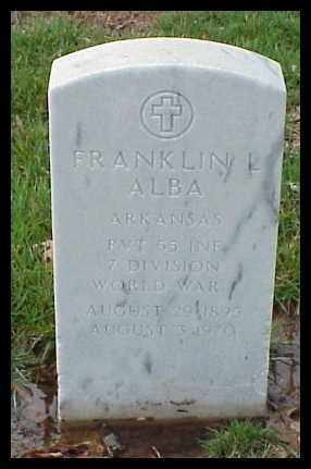ALBA (VETERAN WWI), FRANKLIN L - Pulaski County, Arkansas | FRANKLIN L ALBA (VETERAN WWI) - Arkansas Gravestone Photos
