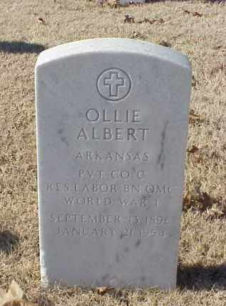 ALBERT (VETERAN WWI), OLLIE - Pulaski County, Arkansas | OLLIE ALBERT (VETERAN WWI) - Arkansas Gravestone Photos