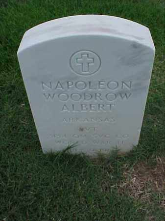 ALBERT (VETERAN WWII), NAPOLEON WOODROW - Pulaski County, Arkansas | NAPOLEON WOODROW ALBERT (VETERAN WWII) - Arkansas Gravestone Photos