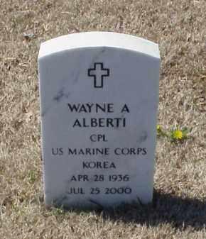 ALBERTI (VETERAN KOR), WAYNE A - Pulaski County, Arkansas | WAYNE A ALBERTI (VETERAN KOR) - Arkansas Gravestone Photos