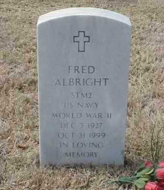 ALBRIGHT  (VETERAN  WWII), FRED - Pulaski County, Arkansas | FRED ALBRIGHT  (VETERAN  WWII) - Arkansas Gravestone Photos