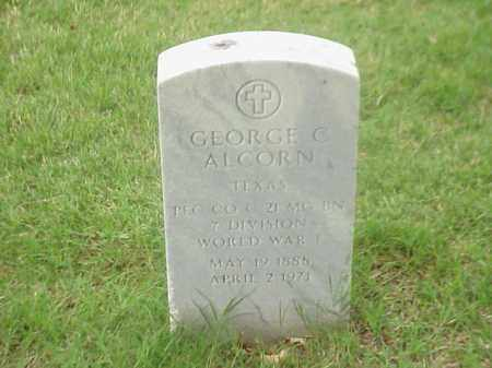 ALCORN (VETERAN WWI), GEORGE CALVIN - Pulaski County, Arkansas | GEORGE CALVIN ALCORN (VETERAN WWI) - Arkansas Gravestone Photos