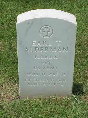 ALDERMAN (VETERAN WWII), EARL T - Pulaski County, Arkansas | EARL T ALDERMAN (VETERAN WWII) - Arkansas Gravestone Photos
