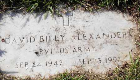 ALEXANDER (VETERAN), DAVID BILLY - Pulaski County, Arkansas | DAVID BILLY ALEXANDER (VETERAN) - Arkansas Gravestone Photos