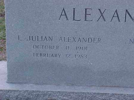 ALEXANDER, L JULIAN(2) - Pulaski County, Arkansas | L JULIAN(2) ALEXANDER - Arkansas Gravestone Photos