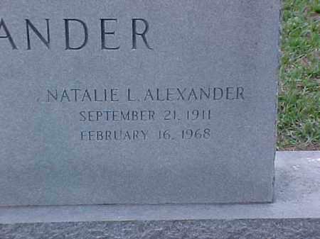 ALEXANDER, NATALIE L (2) - Pulaski County, Arkansas | NATALIE L (2) ALEXANDER - Arkansas Gravestone Photos