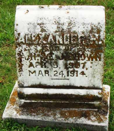 ALEXANDER, H. - Pulaski County, Arkansas | H. ALEXANDER - Arkansas Gravestone Photos