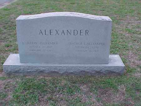 ALEXANDER, L JULIAN - Pulaski County, Arkansas | L JULIAN ALEXANDER - Arkansas Gravestone Photos