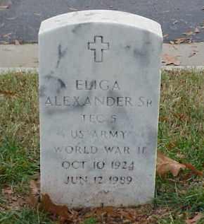 ALEXANDER, SR (VETERAN WWII), ELIGA - Pulaski County, Arkansas | ELIGA ALEXANDER, SR (VETERAN WWII) - Arkansas Gravestone Photos