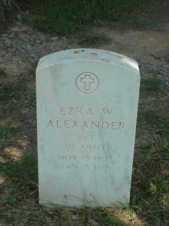 ALEXANDER (VETERAN), EZRA W - Pulaski County, Arkansas | EZRA W ALEXANDER (VETERAN) - Arkansas Gravestone Photos