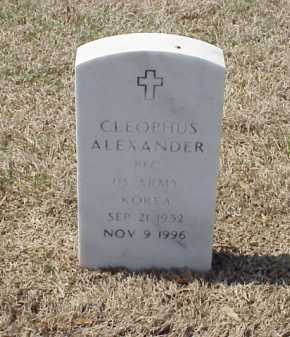 ALEXANDER (VETERAN KOR), CLEOPHUS - Pulaski County, Arkansas | CLEOPHUS ALEXANDER (VETERAN KOR) - Arkansas Gravestone Photos