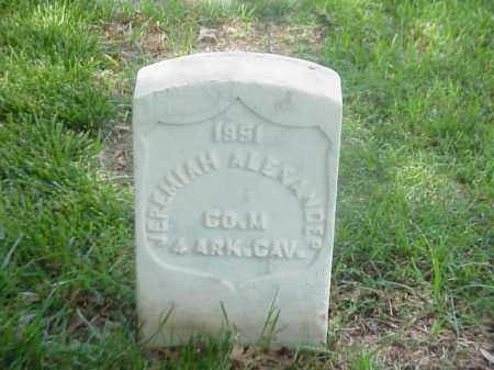 ALEXANDER (VETERAN UNION), JERMIAH - Pulaski County, Arkansas | JERMIAH ALEXANDER (VETERAN UNION) - Arkansas Gravestone Photos